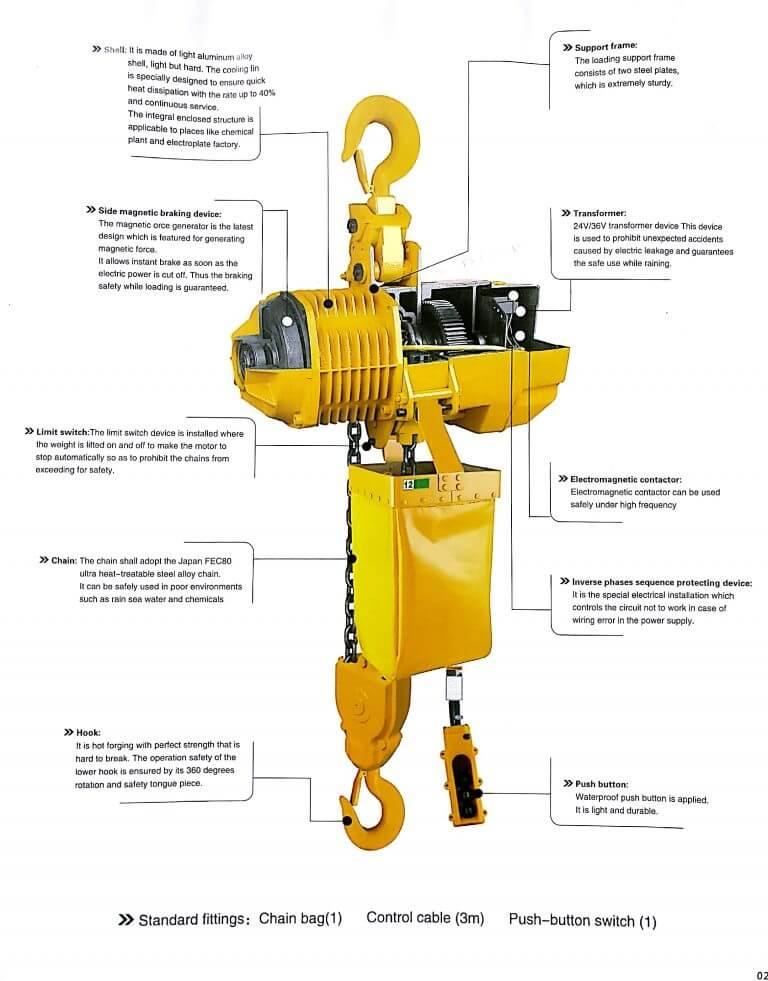 Electric Chain Hoist Features Industrial Equipment Centre Ranigunj Secunderabad