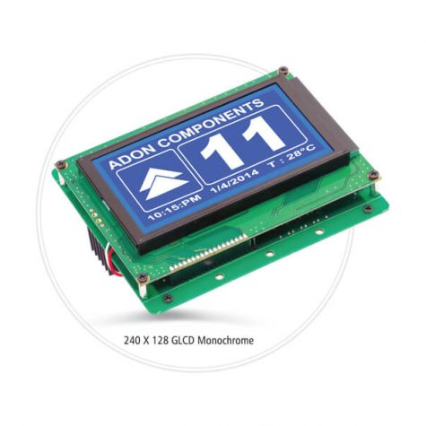 ADON 240 X 128 GLCD MONOCHROME DISPLAY Reliable Engineering Products India Pvt Ltd