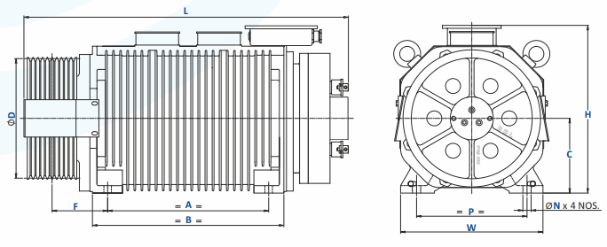 Bharat Bijllee GreenstarMax Gearless Machine for Goods Elevator Dimension