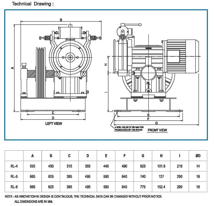 Compact Elevator Traction Machine Drawings