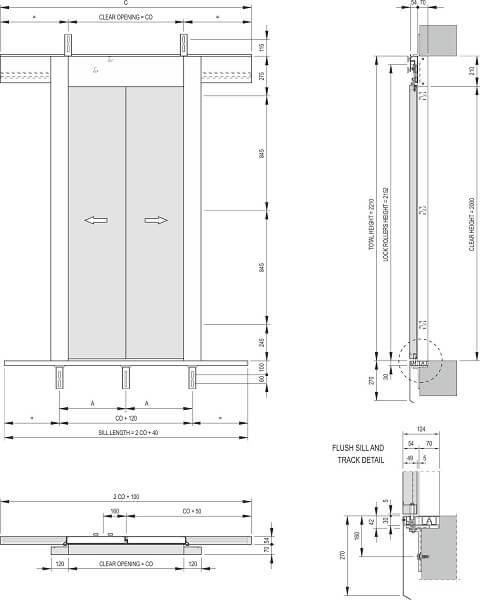 Fermator 2-panel-centre-parting-landing-door-model-40-10