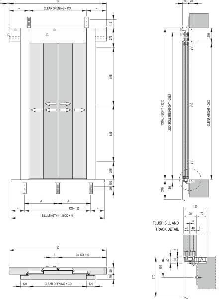 Fermator 4-panel-side-opening-landing-door-model-40-10