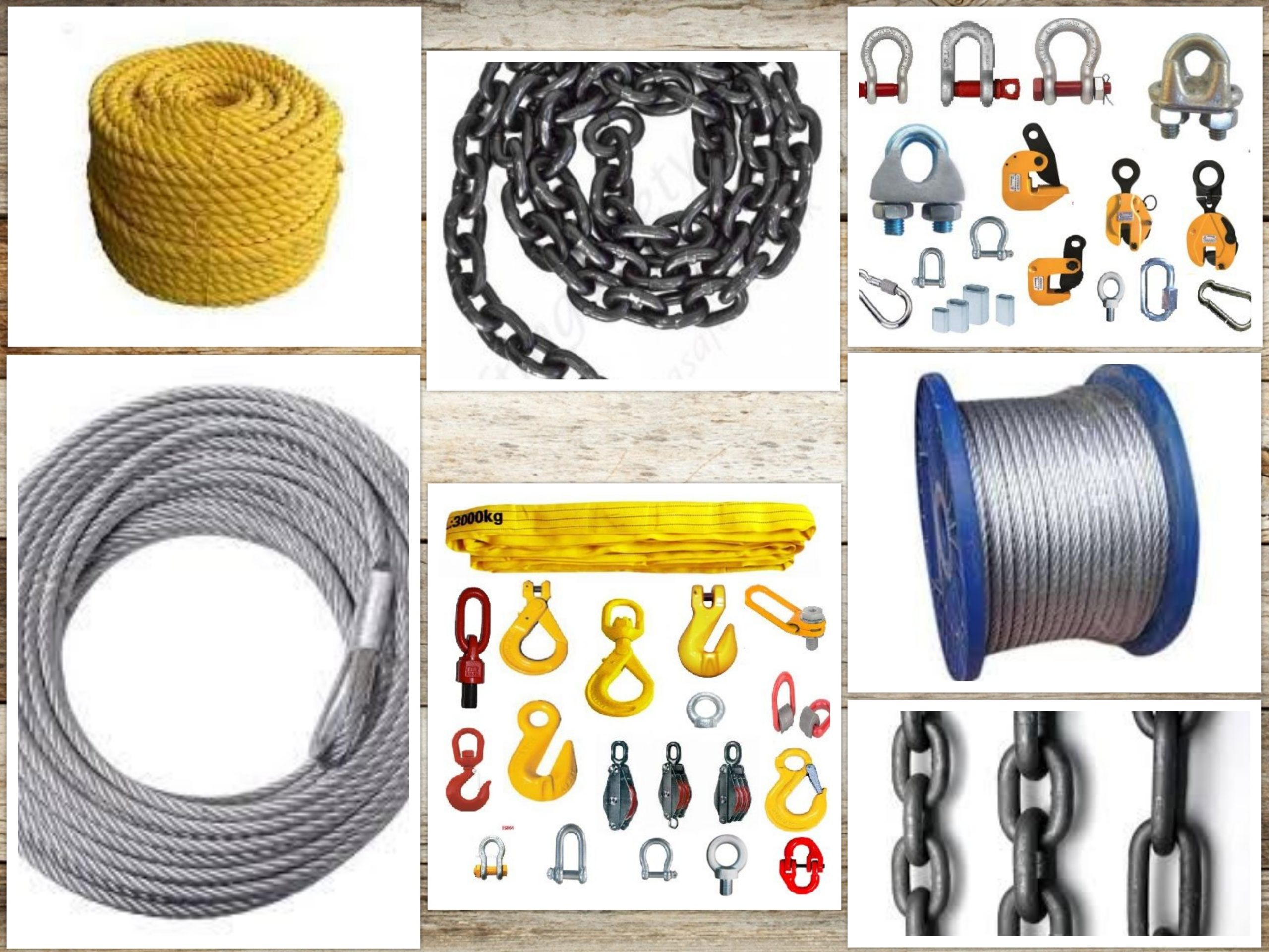 Products - Chains, Ropes and Tackles