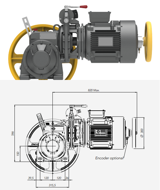 Montanari M77 - M77H Gearbox Lift Motor Technical Drawings Reliable Engineering Products India Pvt Ltd Ranigunj Secunderabad