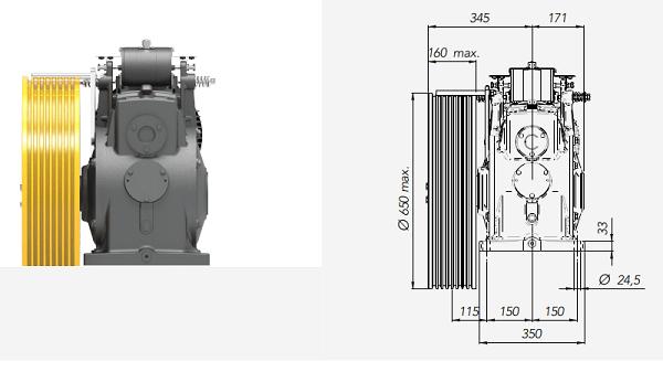Montanari M93 Gearbox Lift Motor Technical Drawings 2