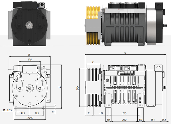 Montanari MGI27L Gearless Lift Motor Technical Diagrams Reliable Engineering Products India Pvt Ltd Ranigunj Secunderabad