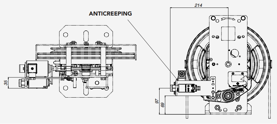 RQ Montanari Speed Governor Anticreeping Technical Drawings