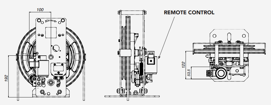 RQ Montanari Speed Governor Remote Control Technical Drawings