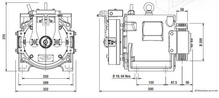 Sharp SEG-05 Gearless Elevator Traction Machine Diagrams
