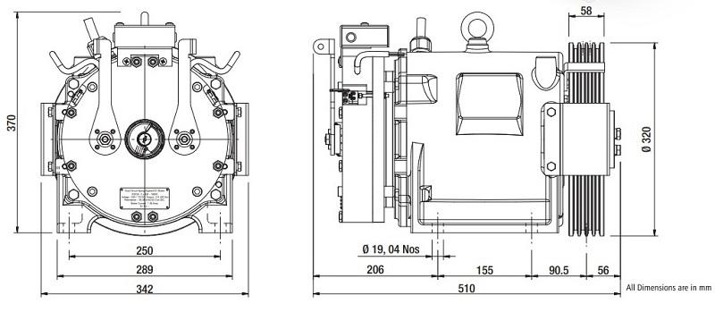 Sharp SEG-10 Gearless Elevator Traction Machine Diagrams