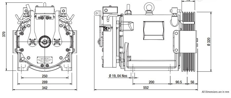 Sharp SEG-30 Gearless Elevator Traction Machine Diagrams