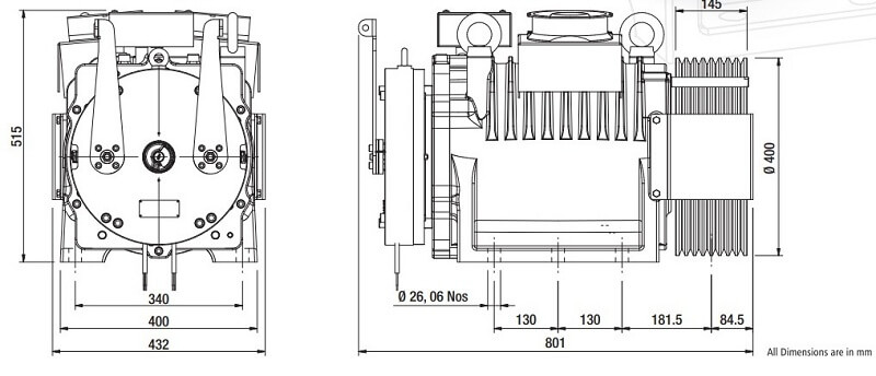 Sharp SEG-60 Gearless Elevator Traction Machine Diagrams​