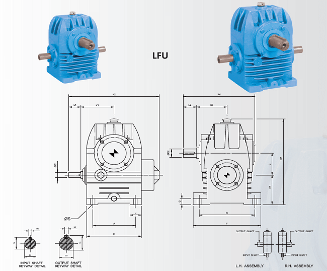 LFU Type Single Reduction Worm Gear Units REPIPL Secunderabad