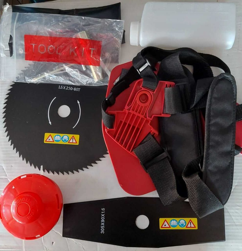 YTAL Brush Cutter GX35 4 Stroke Shoulder Model Accessories