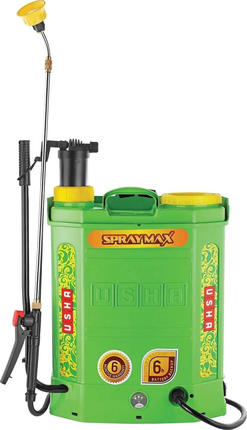 USHA SprayMax 12B2 Manual Battery 2 in 1 Power Sprayer