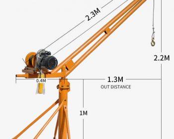 YTAL 500Kg Mini Crane for Material Lifting